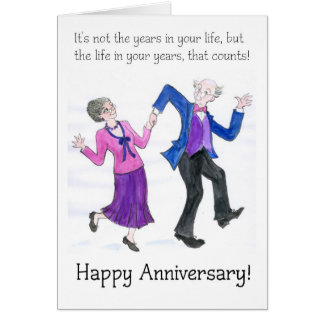 Anniversary Greeting Card for Older Couple