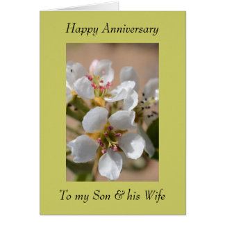 Anniversary Greeting Card - For Son & his Wife