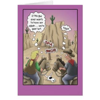 Anniversary humor card, Horse Sense Greeting Card