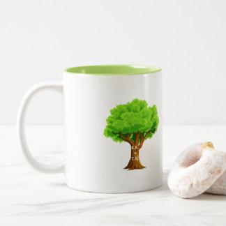 Anniversary Lover's Tree Two-Tone Coffee Mug
