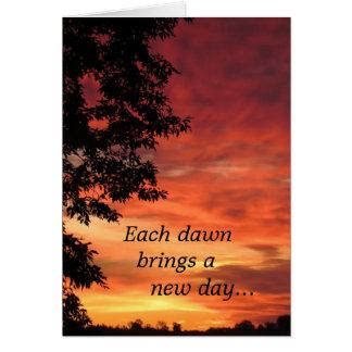 anniversary of a death - dawn greeting card