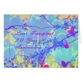 Anniversary of Liver Transplant, 20 Year Card