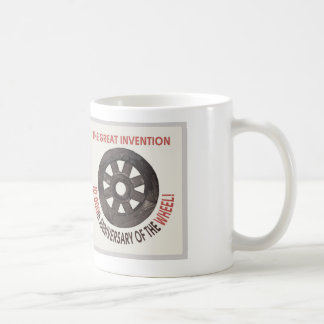 anniversary of the wheel classic white coffee mug