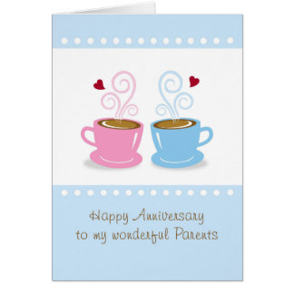Anniversary Parents, Whole Latte Love Greeting Car Card