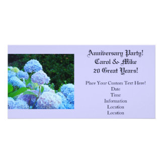 Anniversary Party! Custom Names 20 Great Years Custom Photo Card