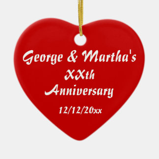 Anniversary Party Favor Ceramic Ornament
