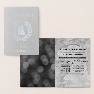 Anniversary Party Silver Passport Foil Card