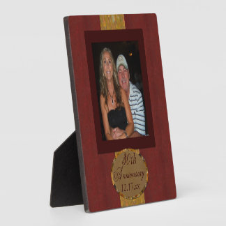 Anniversary photo Plaque