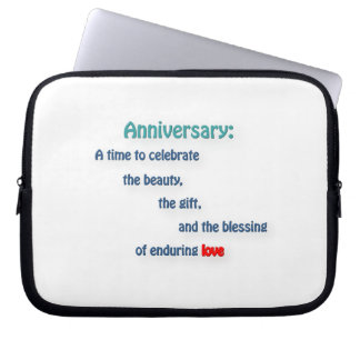 Anniversary Quote - Anniversary: A time to cele … Laptop Sleeves