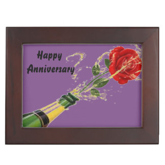 Anniversary Rose Celebration Purple Keepsake Box