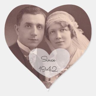 Anniversary Sticker Vintage Wedding Photo Stickers
