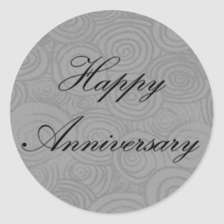 Anniversary Swirls Round Sticker