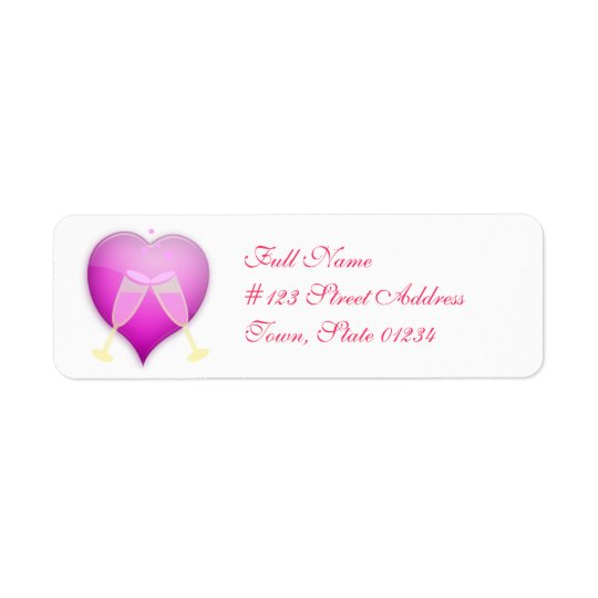 Anniversary Toast Mailing Labels