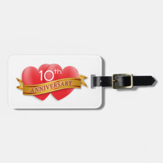 Anniversary two hearts luggage tag