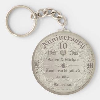Anniversary | Vintage Copper Look Keychain