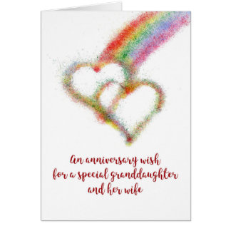 Anniversary Wish for Granddaughter and Wife Card