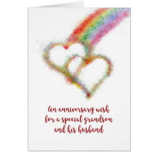 Anniversary Wish for Grandson and Husband Card