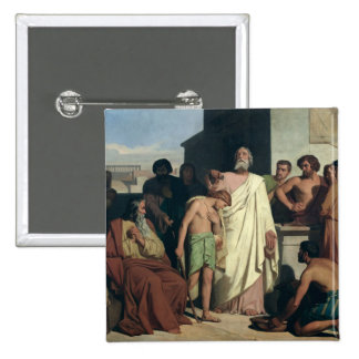 Annointing of David by Saul, 1842 2 Inch Square Button