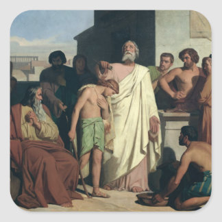 Annointing of David by Saul, 1842 Square Sticker