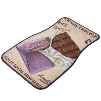Annonce britannique vintage de chocolat tapis de voiture