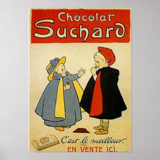 Annonce de cru de Suchard 2 de chocolat Posters