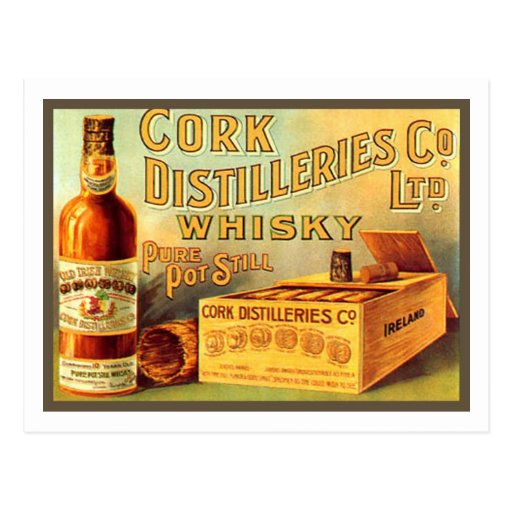 Annonce de cru de whiskey de distilleries de liège carte postale