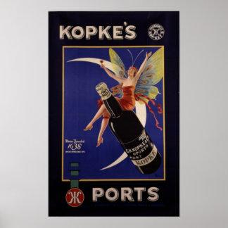 Annonce de cru des ports de Kopke Posters