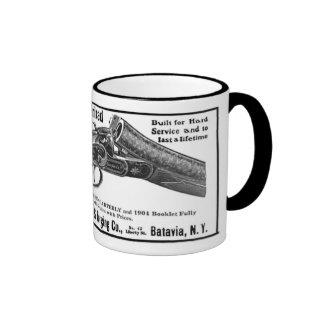 annonce de fusil de chasse de boulanger mugs à café