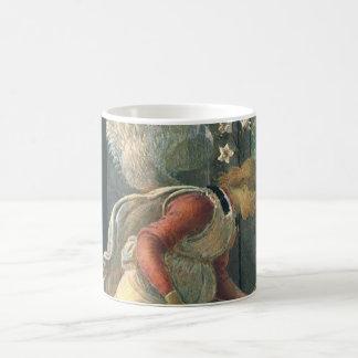 Annonce (détail d'ange) par Sandro Botticelli Mug Blanc