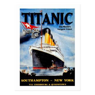 Annonce titanique de voyage de RMS Cartes Postales