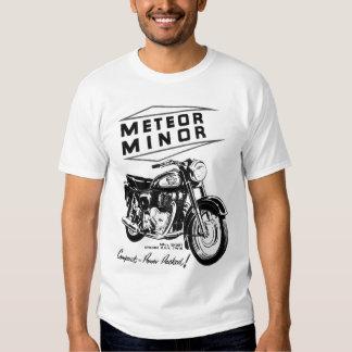 Annonce vintage BRITANNIQUE mineure de moto de Tee Shirts