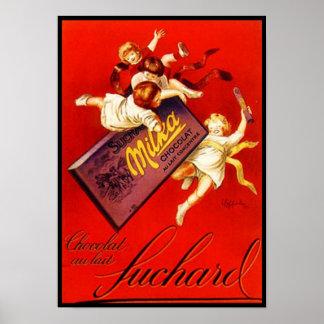 Annonce vintage de chocolat de Milka Poster