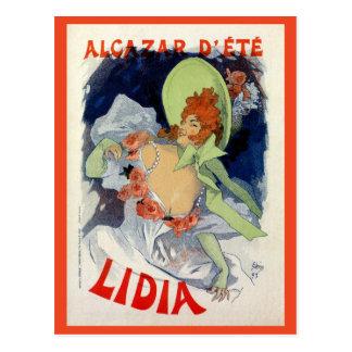 Annonce vintage de Lidia de d été d Alcazar Cartes Postales
