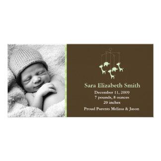 Annonces mobiles de naissance de bébé photocartes personnalisées
