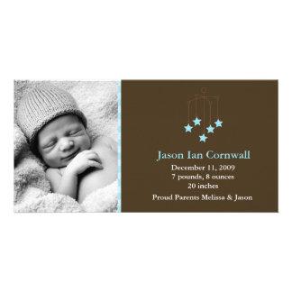 Annonces mobiles de naissance de bébé d'étoiles photocartes