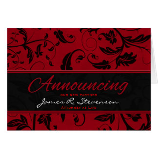 Announcing Business Partner Red Damask Card