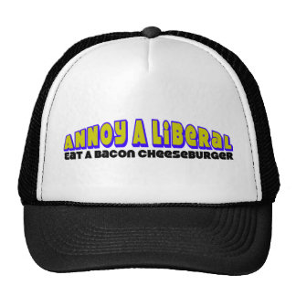 Annoy A Liberal: Eat A Bacon Cheeseburger! Trucker Hat