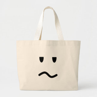 Annoyed Face Large Tote Bag