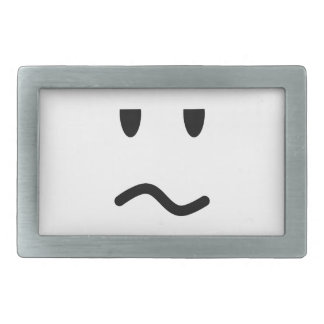 Annoyed Face Rectangular Belt Buckles