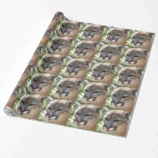 Annoyed Mountain Lion Wrapping Paper