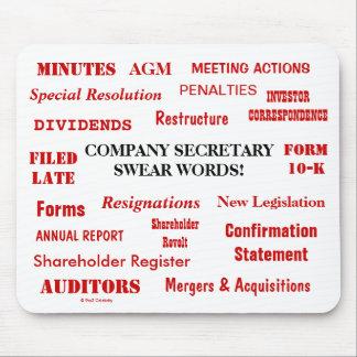 Annoying Funny Company Secretary Joke Swear Words Mouse Pad