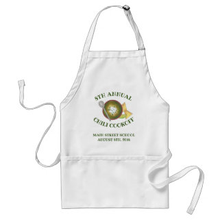 Annual Chili Cookoff Cook Off Bowl of Green Chili Standard Apron