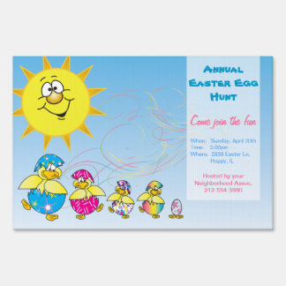 Annual Easter Egg Hunt Sign