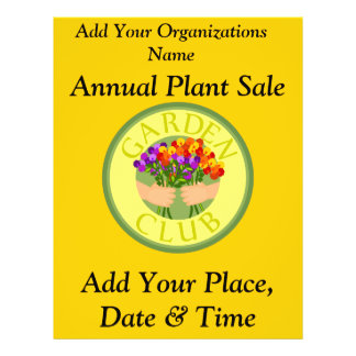 Annual Plant Sale, Flyer