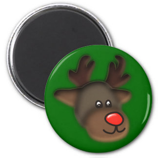 annuitant more reindeer 2 inch round magnet