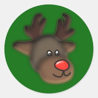 annuitant more reindeer classic round sticker