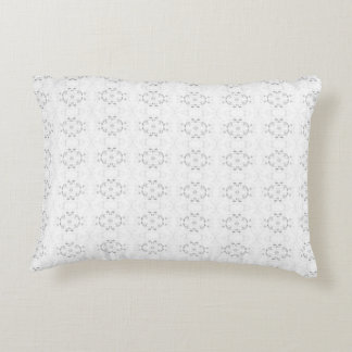 'Annular' Grey and White Pattern Decorative Pillow