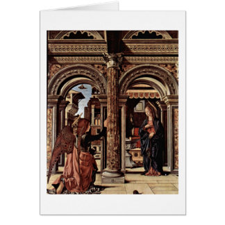 Annunciation Altar By Francesco Del Cossa Card