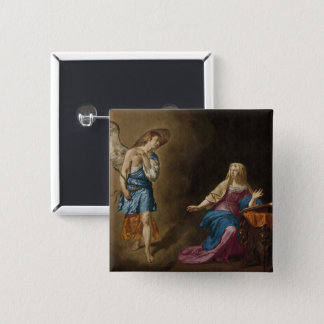 Annunciation Angel and Mary 2 Inch Square Button
