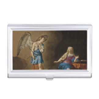 Annunciation Angel and Mary Business Card Holder